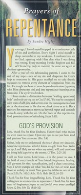 Prayers of Repentance Prayer Card, Pack of 50  -
