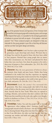 Scriptural Prayers for the Next Generation Prayer Card, Pack of 50  -