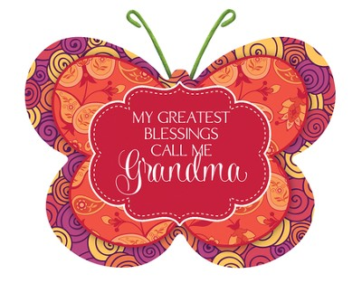 My Greatest Blessings Call Me Grandma, Butterfly Magnet  -