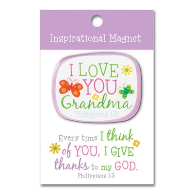 I Love You Grandma Magnet  -