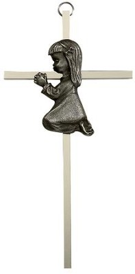 Praying Girl Cross  -