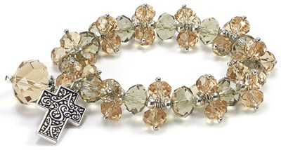 Ask, Seek, Knock Stretch Bracelet, Topaz  -