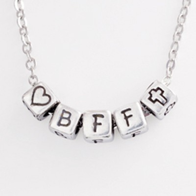 Mini Block Pendant, BFF  -