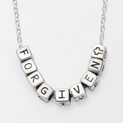 Mini Block Pendant, Forgiven  -