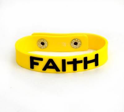 Rubber Bracelet, Faith  -