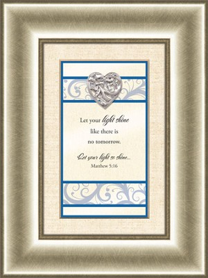 Heart Prints, Matthew 5:16, Framed Print  -