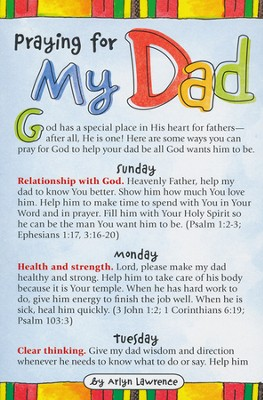 Praying for My Dad Prayer Card, Pack of 20  -