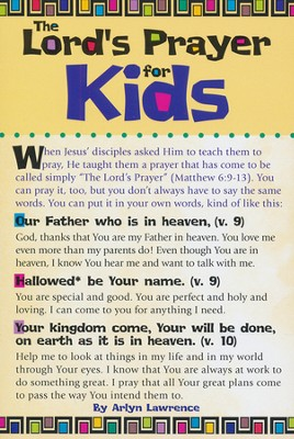 the Lord's Prayer for Kids Prayer Card, Pack of 20  -
