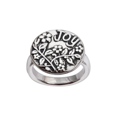 Joy with Flowers Ring, Size 8  -