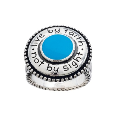 Live by Faith, Not By Sight Ring, Size 9  -