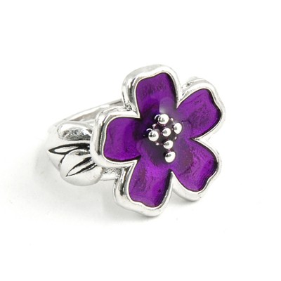 Flower with Cross Ring, Size 5  -