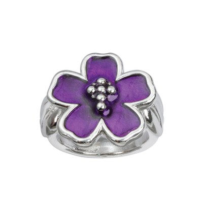 Flower with Cross Ring, Size 9  -