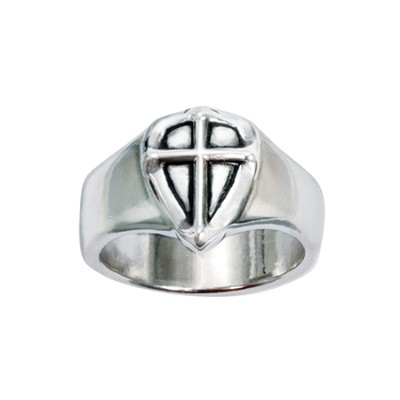Cross Shield Ring, Size 10  -