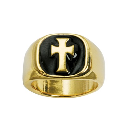 Signet with Cross Ring, Size 10  -