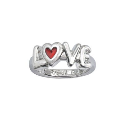 Love Never Fails Ring, Size 8  -