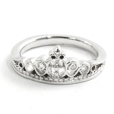 Princess Crown Ring, Size 8  -