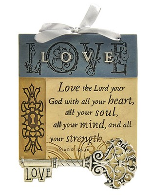 Love The Lord Plaque, Key  -