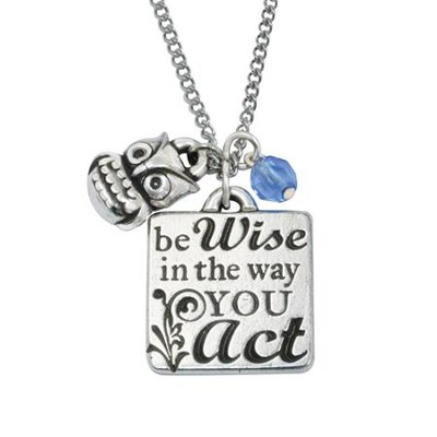 Be Wise Owl Pendant, Colossians 4:5   -
