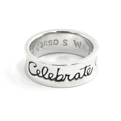 Women of Faith, Celebrate, Psalm 33:21 Ring, Medium  -