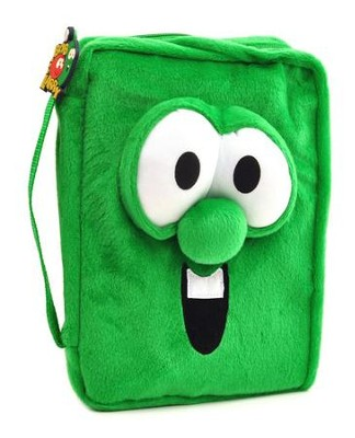 Veggie Larry Plush Bible Cover, Medium         -