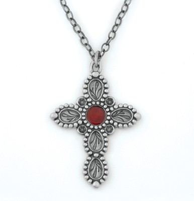 Leaf Cross Necklace  -