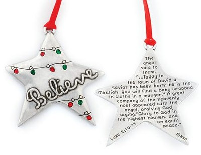 Star Ornament, Believe  -