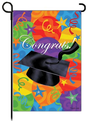 Congrats! Graduation Flag, Small  -