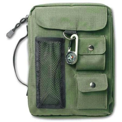 Compass Bible Cover Olive Green Large   -