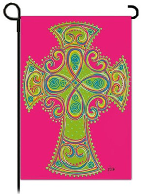 Celtic Cross Flag, Small  -     By: Brushfire Designs