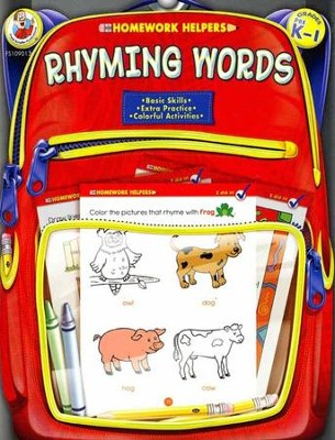 Rhyming Words Color, Trace, and Learn (Prek-1) Homework Helper   -