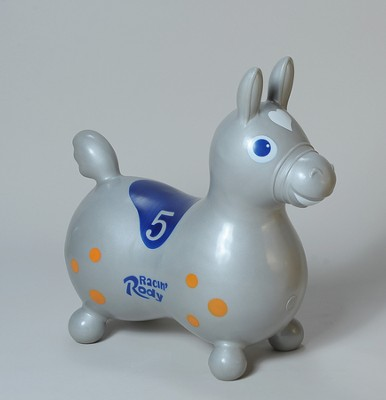 Rody Inflatable Hopping Horse, Silver   -