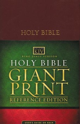 KJV Giant Print Bible, Imitation Leather, Burgundy   -