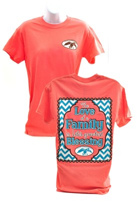 Duck Commander, Love of a Family Shirt, Coral XL  Duck Commander Series   -