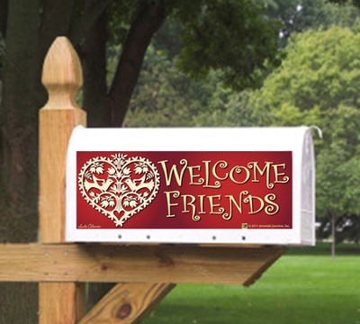 Welcome Friends Mailbox Magnet  -     By: MAILBX