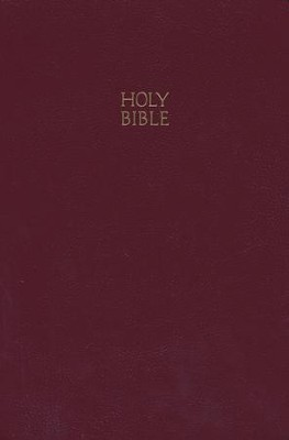 NKJV Giant Print Bible Leatherflex, Burgundy - Slightly Imperfect  -