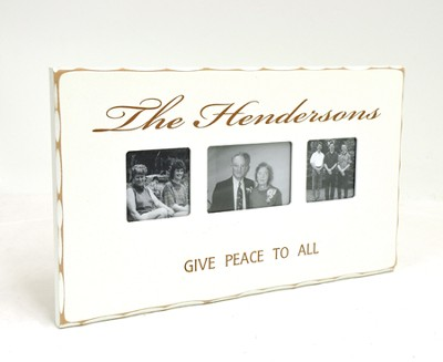 Peace To All Who Enter, Personalized Photo Frame   -