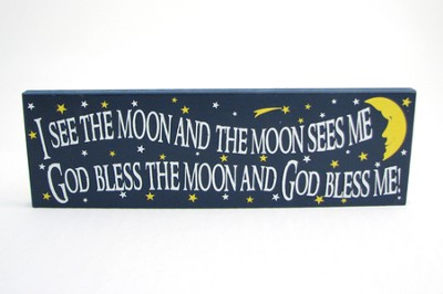 God Bless the Moon and God Bless Me Plaque  -