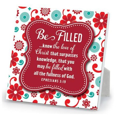 Be Filled Plaque  -