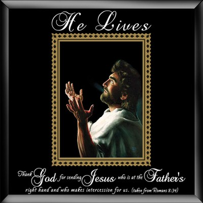 He Lives, Jesus Hands, Framed Art, Large  -