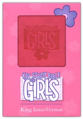 KJV Study Bible for Girls, Duravella, pink - Imperfectly Imprinted Bibles  -