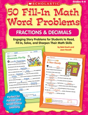 50 Fill-in Math Word Problems: Fractions & Decimals  -     By: Bob Krech, Joan Novelli