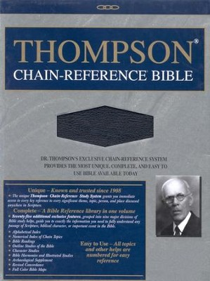 KJV Thompson Chain-Reference Bible, Black  Bonded Leather, Thumb-Indexed  -