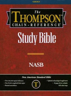 NASB Thompson Chain-Reference Bible, Black  Bonded Leather,  Thumb-Indexed (Original NAS)  -