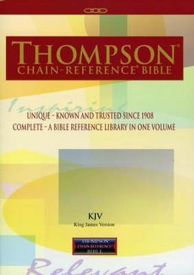 KJV Thompson Chain-Reference Bible, Softcover   -