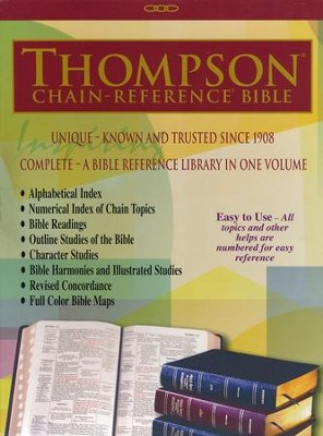 KJV Thompson Chain-Reference Bible, Brown Kirvella Imitation Leather, Thumb-Indexed  -