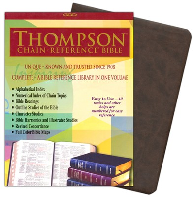 NIV Thompson Chain-Reference Bible, Brown Kirvella Imitation Leather, Thumb-Indexed 1984  -
