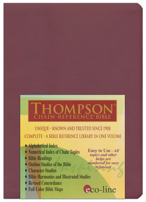 KJV Thompson Chain-Reference Bible, Cranberry Mirage Softcover  -