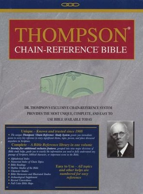 KJV Thompson Chain-Reference Bible, Handy Size, Sage Green Kirvella Imitation Leather  -