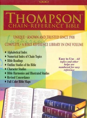 KJV Thompson Chain-Reference Bible, Blue Kirvella Imitation Leather, Thumb-Indexed  -
