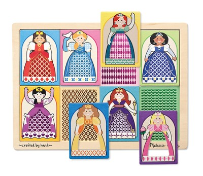 Princesses Peek-Through Puzzle, 8 Pieces  -